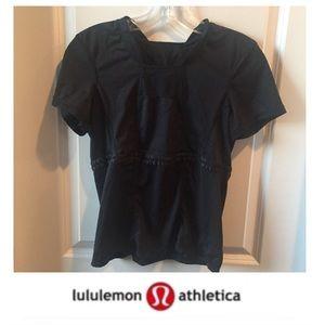 Lululemon black Running Short Sleeve